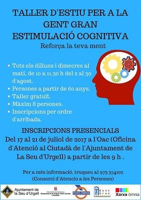 Obertes les inscripcions per al taller gratuït d'estimulació cognitiva que es realitzarà durant el mes d'agost al Punt Òmnia