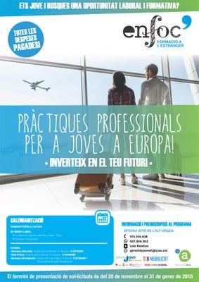 Obertes les preinscripcions per realitzar pràctiques professionals a Europa