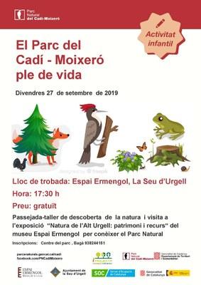 Passejada-taller de descoberta de la natura i visita a l'exposició 'Natura de l'Alt Urgell' de l'Espai Ermengol