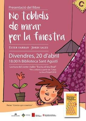 Presentació i taller infantil del conte d'Ester Farran 'No t'oblidis de mirar per la finestra'