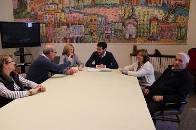La nova junta directiva de l'Esplai de la Gent Gran es presenta a l'Ajuntament de la Seu d'Urgell