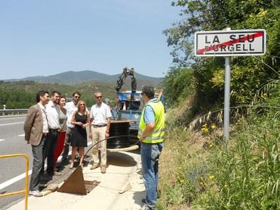 Presentades les obres de desplegament de la fibra òptica a la Seu d'Urgell