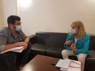 Primera reunió de treball entre la Síndica Municipal de Greuges i el nou alcalde de la Seu d'Urgell