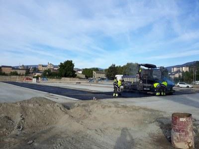 Recta final de les obres de construcció de la nova àrea d'autocaravanes de la Seu d'Urgell
