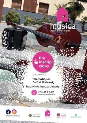 S'inicien les preinscripcions i matrícules del curs 2021-22 a l'Escola Municipal de Música