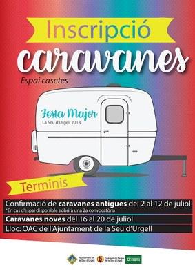 S'obren les inscripcions per les caravanes a l'espai Casetes de la Festa Major 2018
