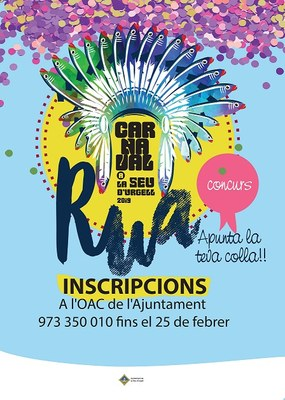 S'obren les inscripcions per participar a la rua de Carnaval 2019 de la Seu d'Urgell
