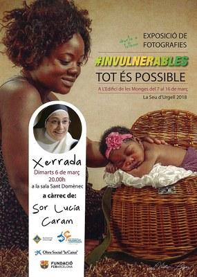 """Sor Lucía Caram farà una xerrada a la Seu d'Urgell per presentar el projecte solidari contra la pobresa infantil """"Invulnerables"""""""