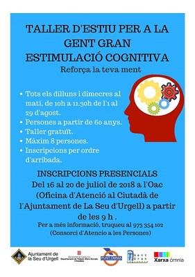 Taller d'estimulació cognitiva per a gent gran a l'agost al Punt Òmnia