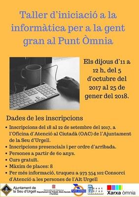 Taller d'iniciació a la informàtica per a gent gran al Punt Òmnia de la Seu d'Urgell