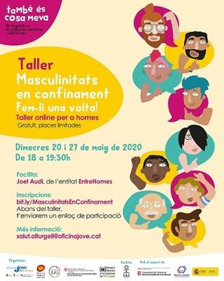 Tallers online sobre masculinitats confinades adreçats a homes de totes les edats de la comarca