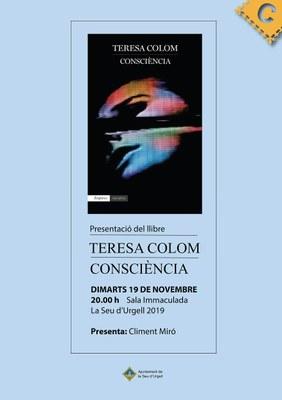 Teresa Colom presenta a la Seu d'Urgell la seva primera novel·la, 'Consciència'