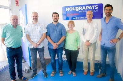 Visita de l'equip de govern de la Seu d'Urgell a Nou Grapats