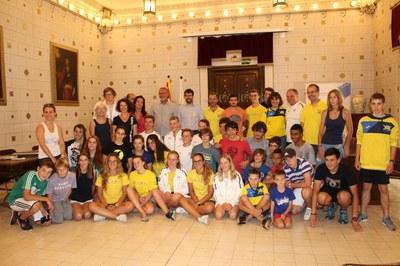 Visita del club de piragüisme d'Augsburg a l'Ajuntament de la Seu d'Urgell