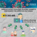 Xarxa telefònica de suport psicològic durant el confinament per COVID19 a l'Alt Urgell