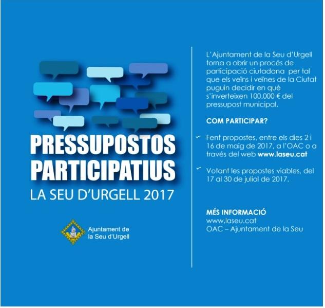 CARTELL PRESSUPOSTOS PARTICIPATIUS 2017